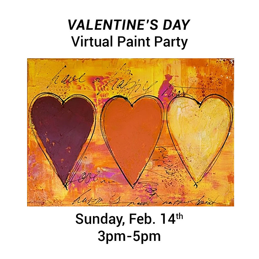 Valentine's Day Virtual Paint Party