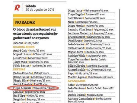 Jornal Record destacou três jogadores da MC Striker !!