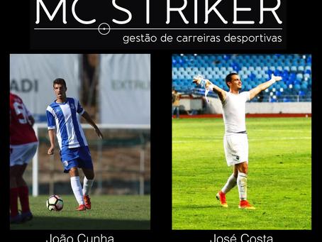 Parabéns aos atletas João Cunha (FC Vizela) e José Costa (Académica de Coimbra) por eliminarem dois