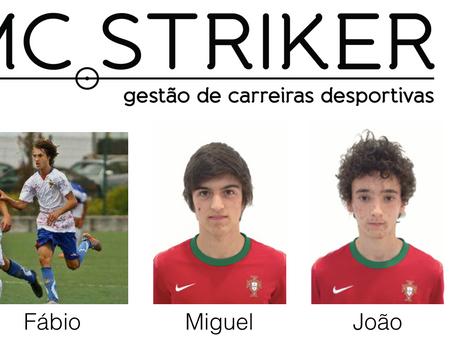Parabéns aos nossos jogadores Fábio Daniel, Miguel Magalhães e João Lopes!!!