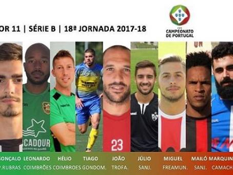 Miguel Ângelo e Hélder Pedro no melhor onze da 18ª jornada da série B!