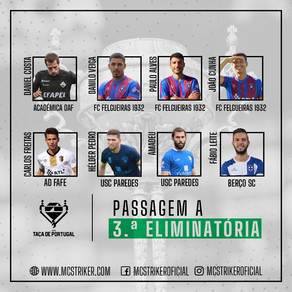 A MC Striker felicita os atletas pela passagem a terceira eliminatória da Taça de Portugal.