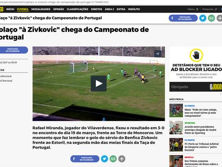 Rafael Mirandaem destaque no jornal OJogo!!!