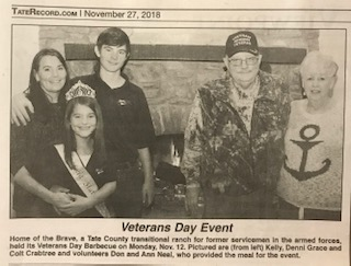 Veterans day newspaper article