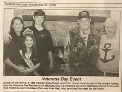 Veterans day newspaper article