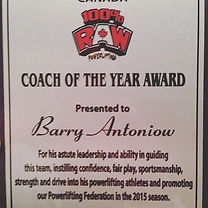 Powerlifting Coach of the Year Award