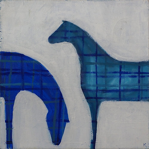 Blue and Grey Horse
