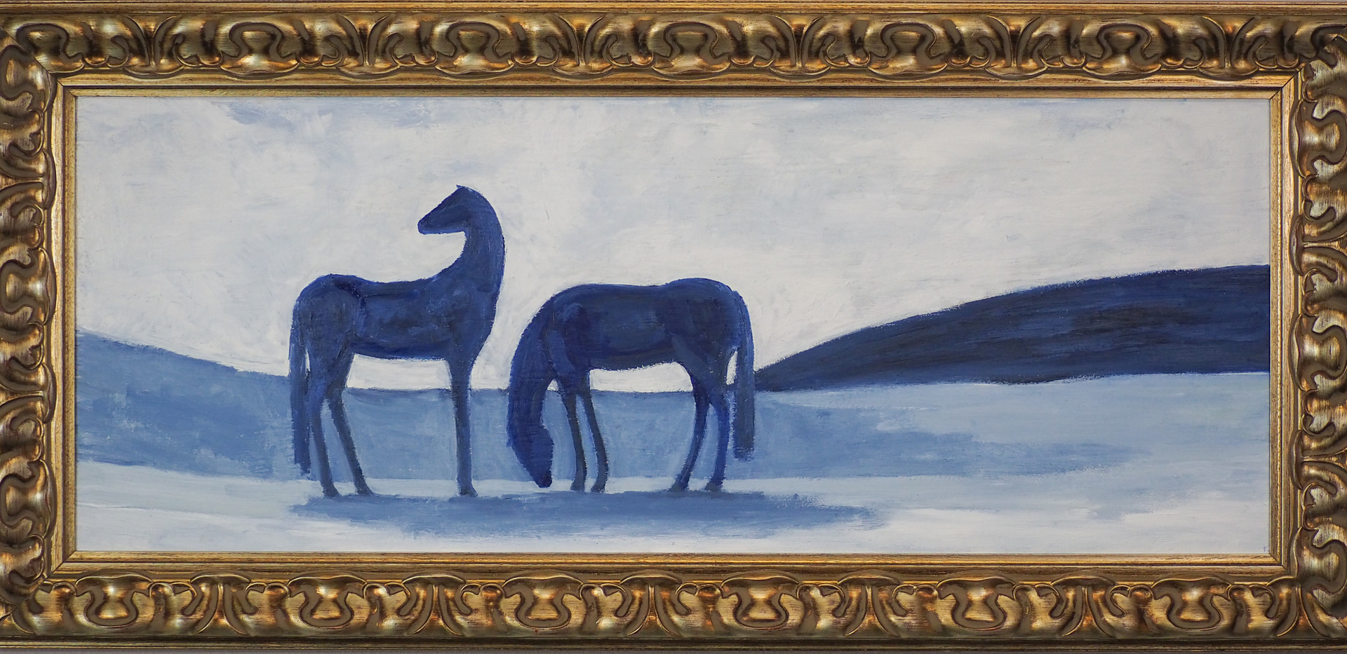 Two Blue Horses