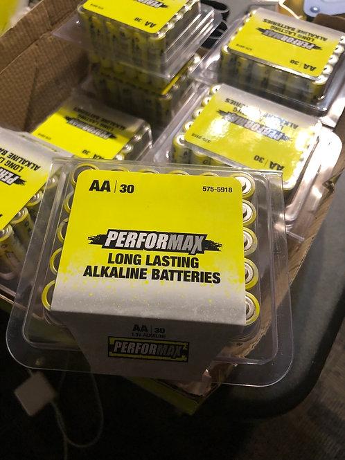 30 alkaline batteries