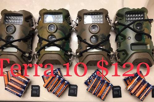 4 terra cams starter bundle, w/ SD and batt