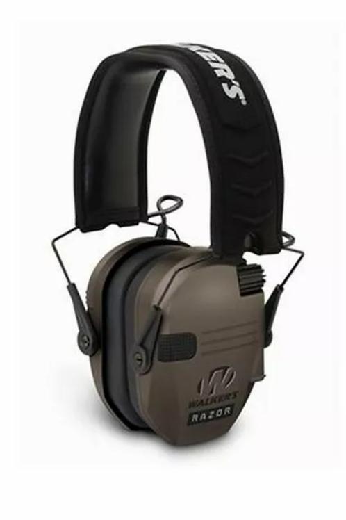 Walkers Game Ear WGE-GWP-RSEM-FDE Razor Slim Shooter Folding Ear Muff Dark Earth