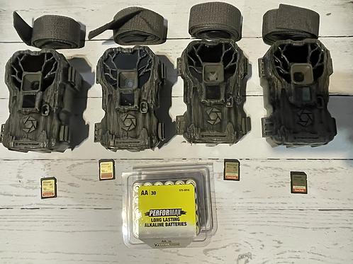 (4pack) PXP24NGX  w/ batteries and SD