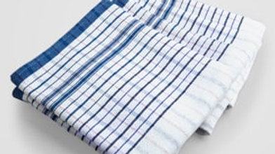 Tea Towel Standard Blue/White Striped