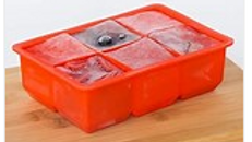 Silicone 6 Cup King Ice Cube Tray