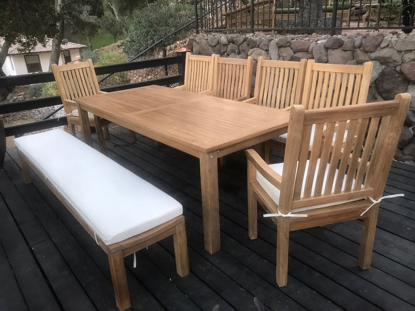 Lounge sofa outdoor teak  Teak Patio Furniture | Woodland Hills | IKsun Teak Patio Furniture
