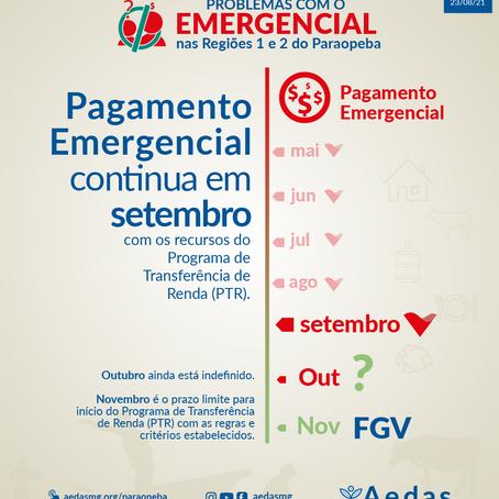 Pagamento Emergencial é prorrogado para setembro seguindo os critérios atuais