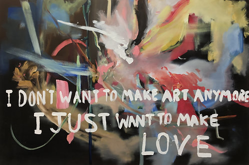 'Make Love' print on canvas, 60 x 90 cm