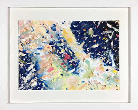 'Blue Galaxy', 2016, 21 x 30 cm, oil on acid-free paper