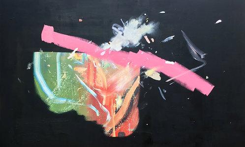 'Recalibration' print on canvas, 27 x 48 cm