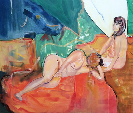 'Two Women', 2015, 150 x 180 cm, oil and canvas