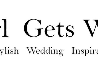 Featured in the 'Girl Gets Wed' Wedding Blog