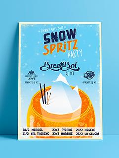 Snow Spritz party Breakbot aperol tour