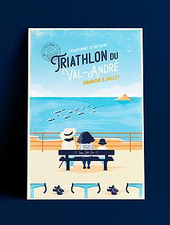 AFFICHE Triathlon du val andré