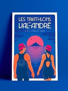 AFFICHE les Triathlons du val andré 2019