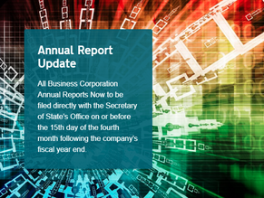 Time to File Your Annual Reports with the Secretary of State