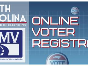 Online voter registration in North Carolina