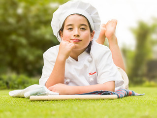 """In The Kitchen with Tokyo Kid-chef """"Cooking with Kiara"""" + Pavlova Cake Recipe"""
