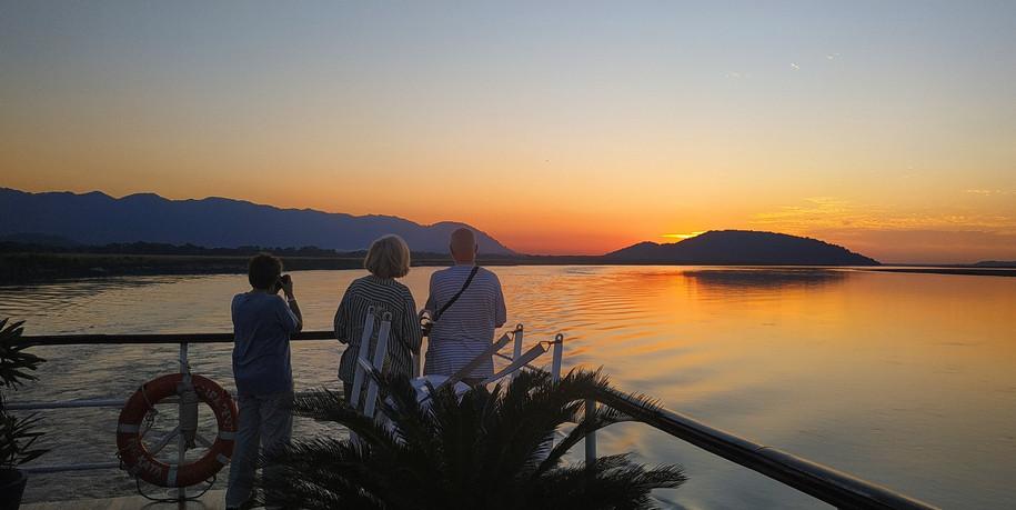 ABN Charaidew II sundeck during sunset o