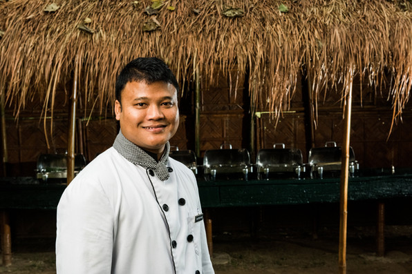 Head Chef Gautom is a homegrown culinary talent from the Mishing tribe of Assam