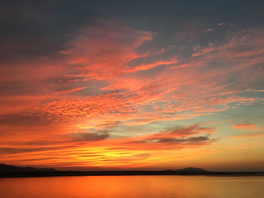 Brahmaputra river cruise sunset