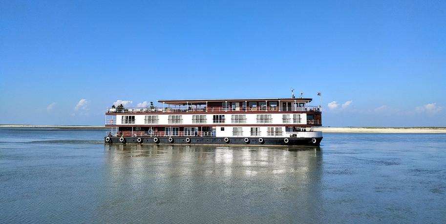 ABN Charaidew II on the Brahmaputra rive