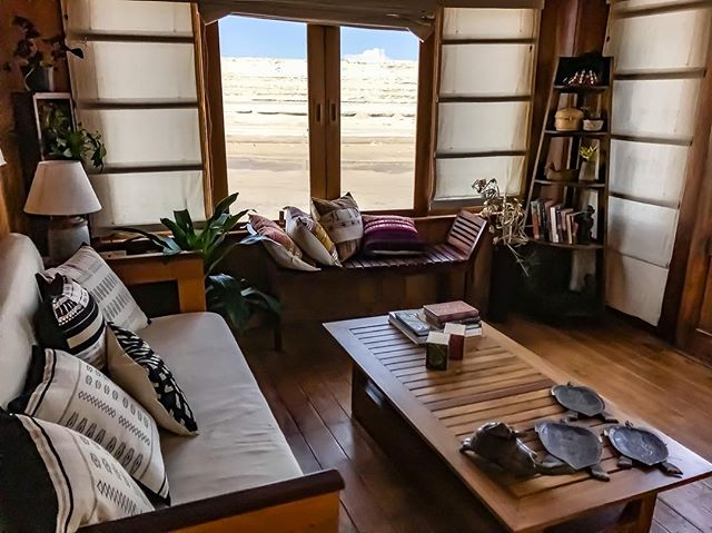 Living spaces of the private houseboat. Separate bedroom with attached bathroom