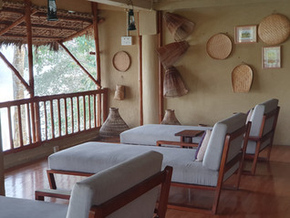 Day beds in the Machan - perfect for lounging around