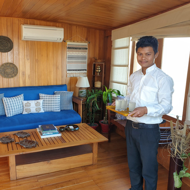 M.V. Rudra Singha living room