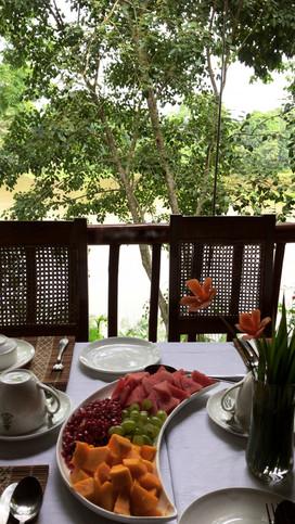 Breakfast in the Machan overlooking Kaziranga National Park