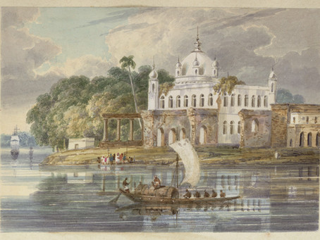 Life along the river Ganges in 1820s
