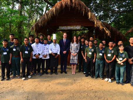 British Royals stay at Diphlu River Lodge