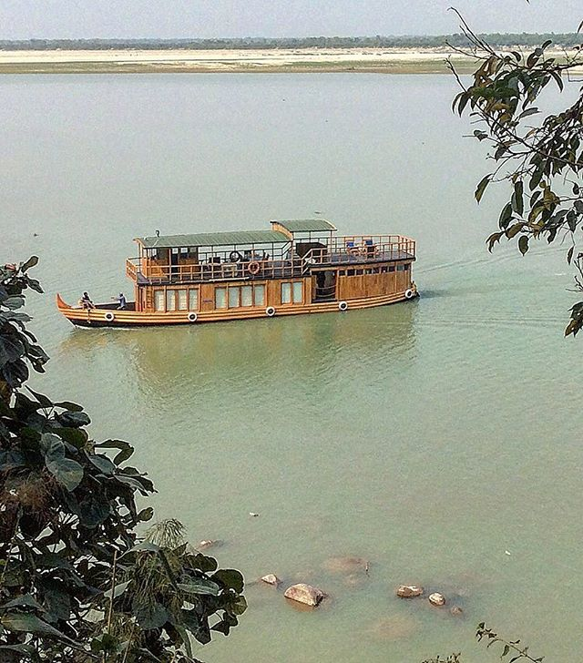 Deluxe houseboat on the Brahmaputra River