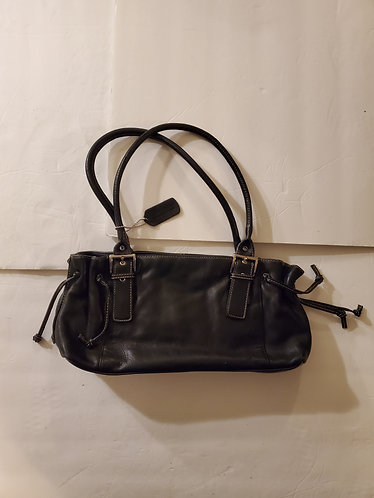 Worthington Black Leather Handbag