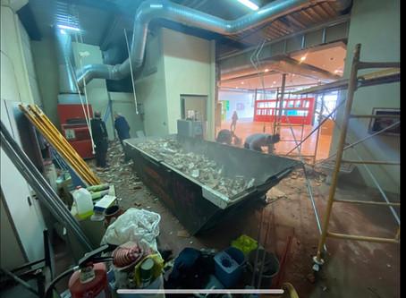Preparando las nuevas instalaciones  AUTOCARAVANAS EUROPEAS MADRID