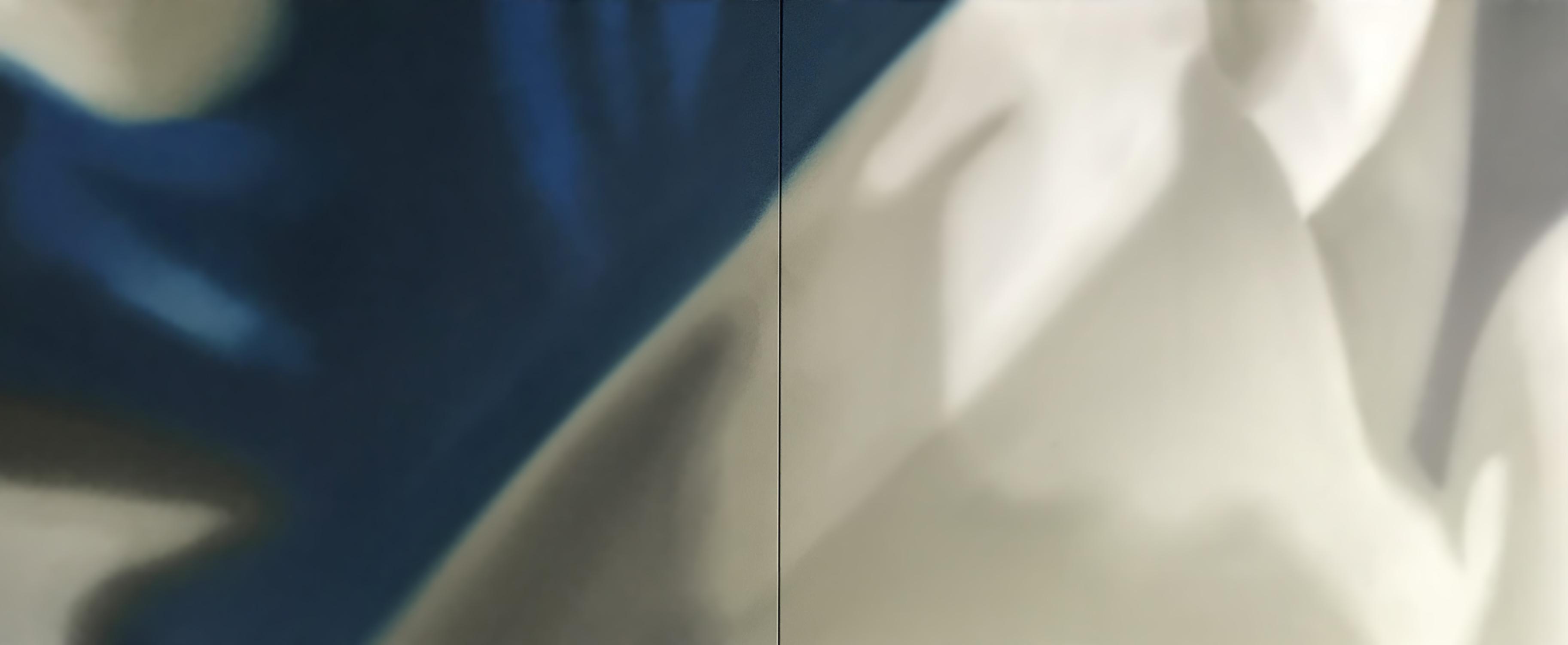 Abstração Azul e Cinza