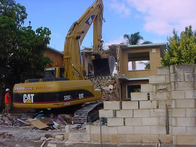 Rear demolition