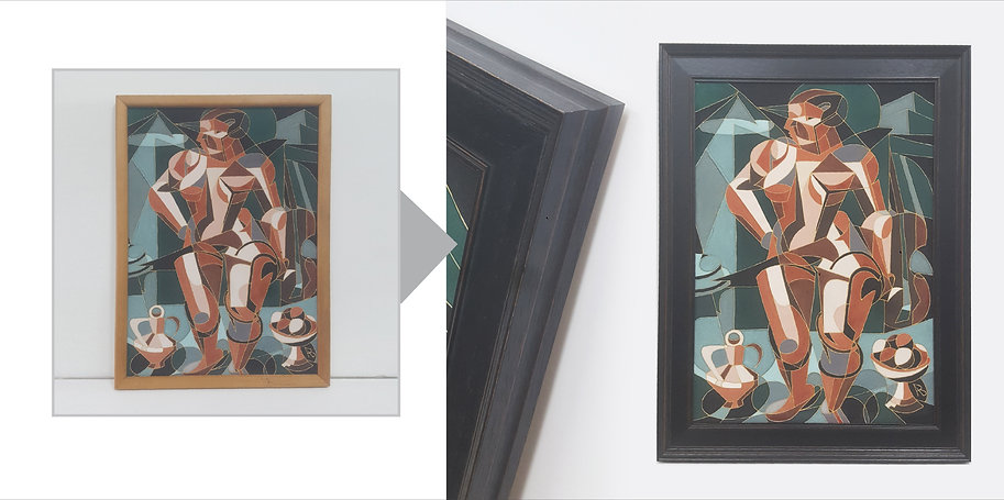 Before and After Cubist artwork