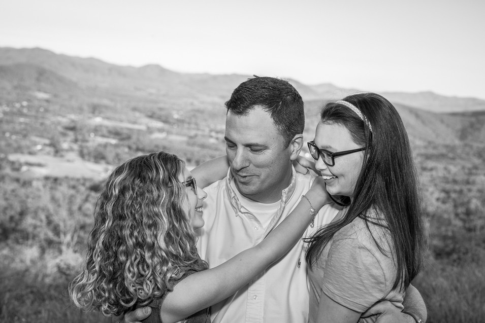 father & daughters