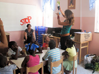 2013 3 June, Teaching children at a Childrens home
