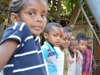 Das Zirkustraining im Kulturzentrum in Adama (Äthiopien)